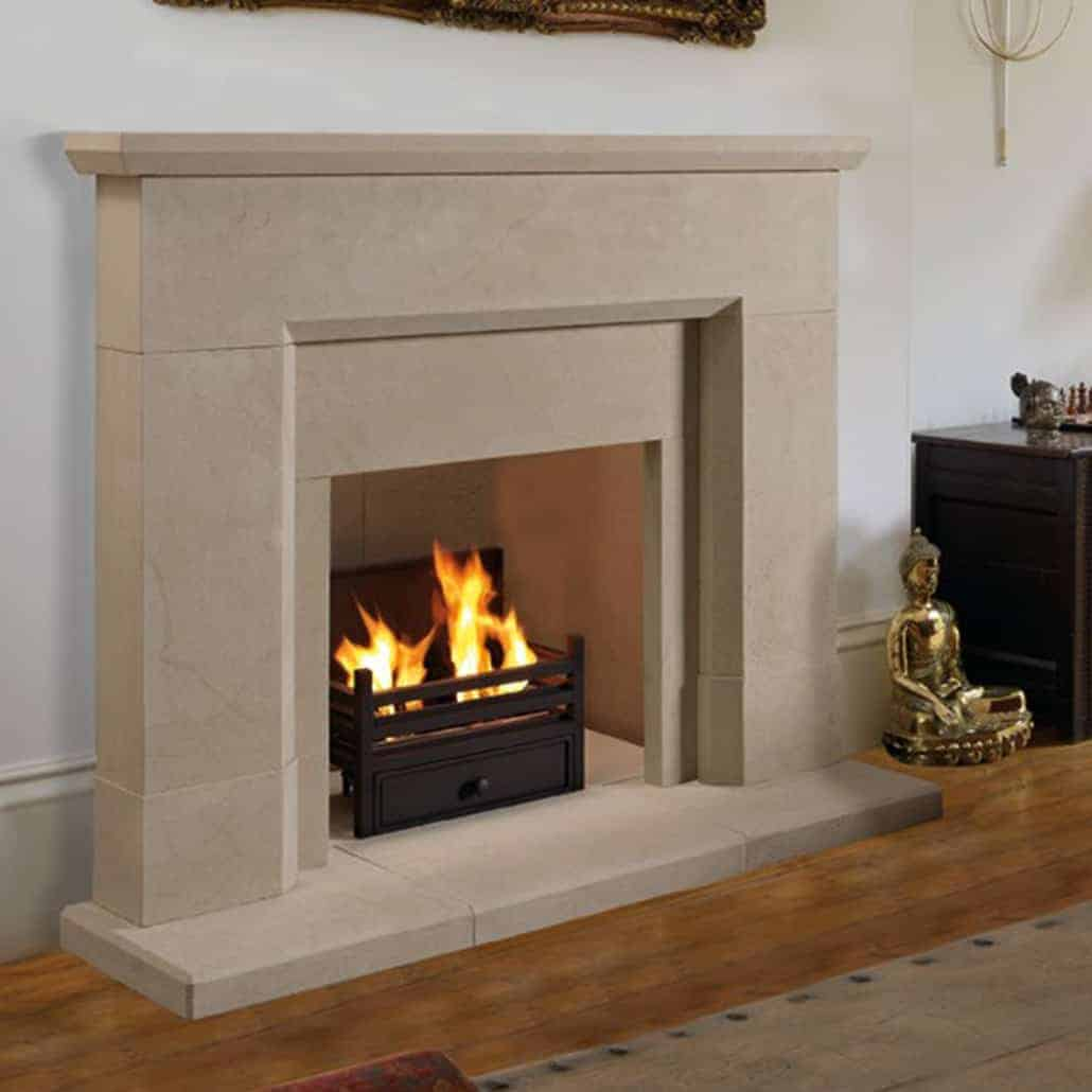 Sandstone Fireplace artisan parrona large antiqued sandstone fireplace - artisan