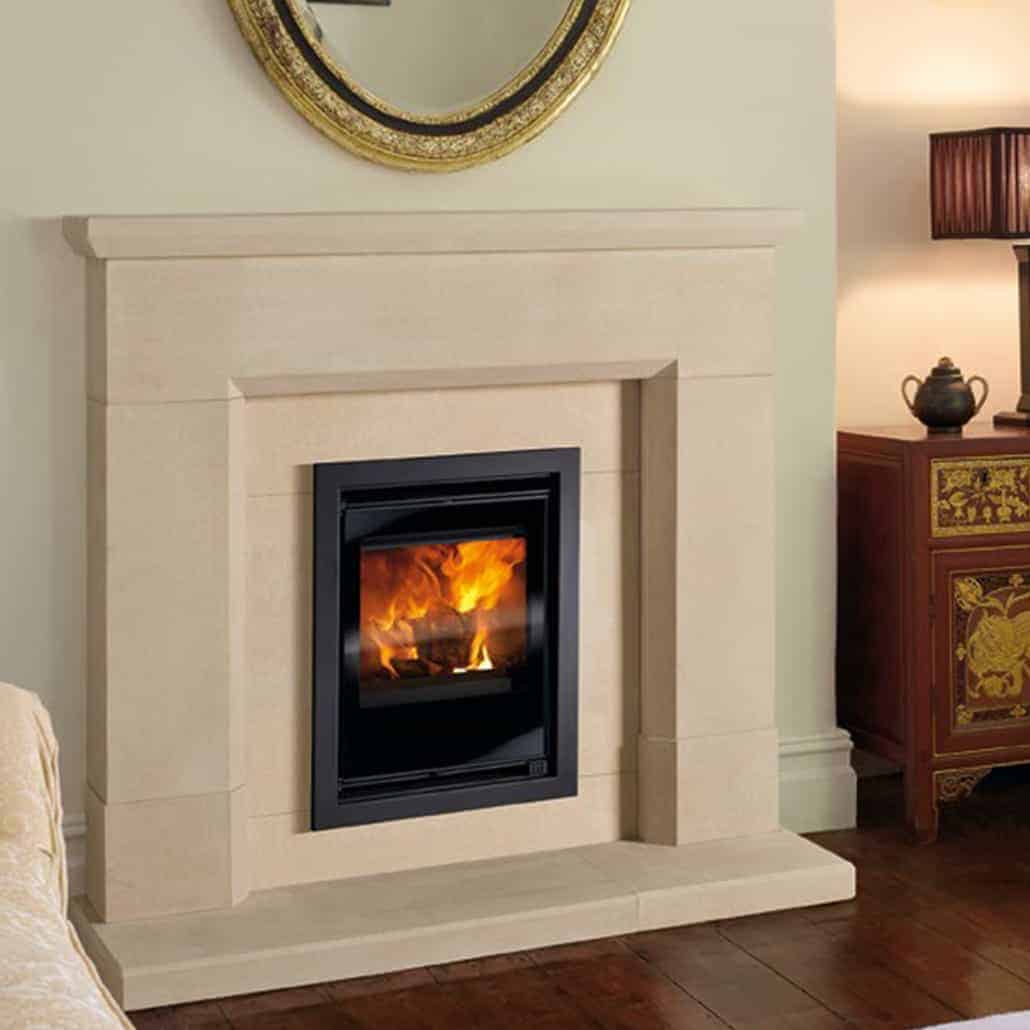 Artisan Parrona Small Honed Sandstone Fireplace