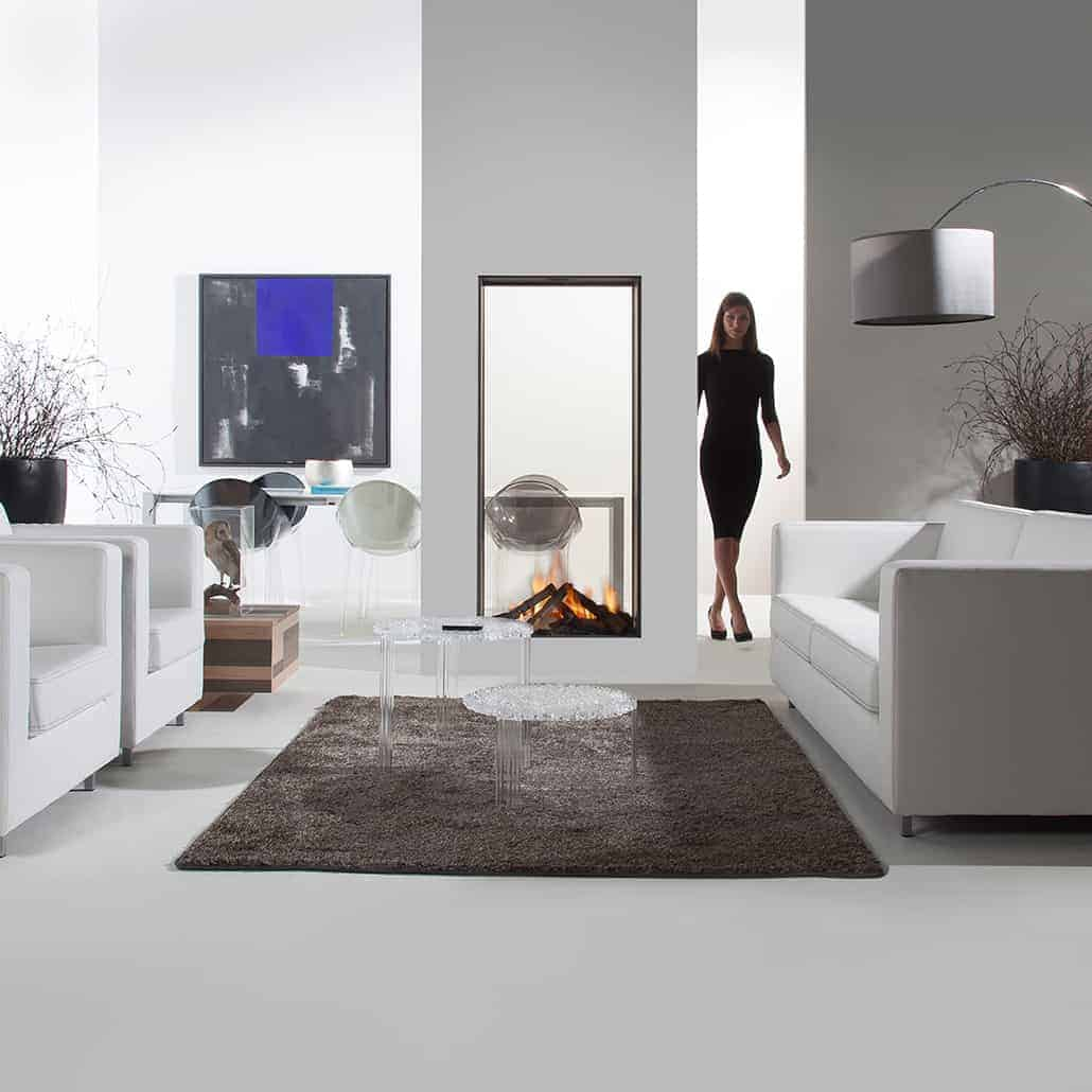 artisan sky t see through vertical glass fronted fire artisan