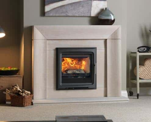 Purevision 5kW Wide Inset Stove in Wave
